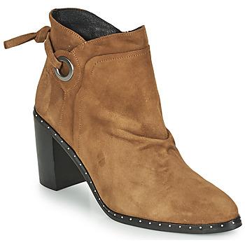 Pantofi Femei Botine Philippe Morvan BATTLES V3 CHEV VEL Camel