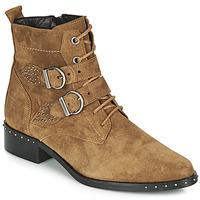 Pantofi Femei Ghete Philippe Morvan SWAG V4 CRTE VEL Camel