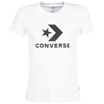Îmbracaminte Femei Tricouri mânecă scurtă Converse STAR CHEVRON Alb