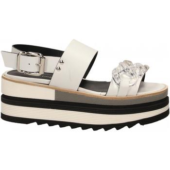 Pantofi Femei Sandale  Laura Bellariva VITELLO CON CATENA bianco-trasparente