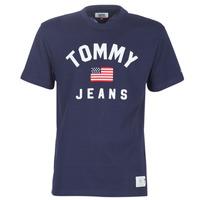 Îmbracaminte Bărbați Tricouri mânecă scurtă Tommy Jeans TJM USA FLAG TEE Bleumarin