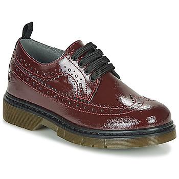 Pantofi Fete Pantofi Derby Citrouille et Compagnie LOUPIOTTE Roșu-bordeaux