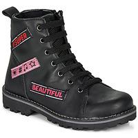 Pantofi Fete Ghete Citrouille et Compagnie LIBIDOU Negru