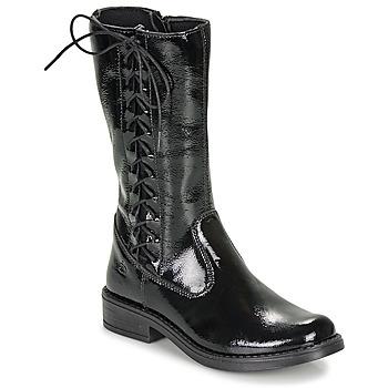 Pantofi Fete Cizme casual Citrouille et Compagnie LAMINOTE Negru