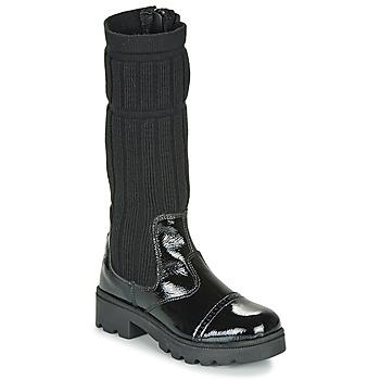 Pantofi Fete Cizme casual Citrouille et Compagnie LAPADOU Negru