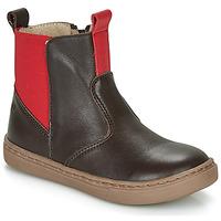Pantofi Băieți Ghete Citrouille et Compagnie JRYNE Maro / Roșu