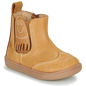 Pantofi Băieți Ghete Citrouille et Compagnie LOKO Camel