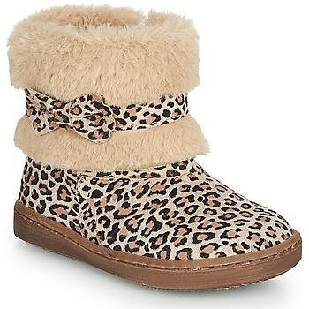 Pantofi Fete Ghete Citrouille et Compagnie LILIFA Camel / Leopard
