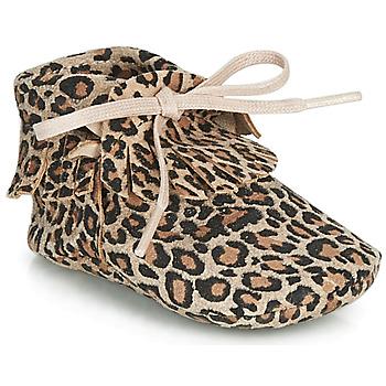 Pantofi Fete Papuci de casă Citrouille et Compagnie LILIFI Camel / Leopard