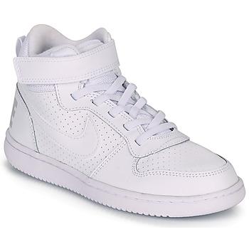 Pantofi Copii Pantofi sport stil gheata Nike COURT BOROUGH MID PRE-SCHOOL Alb
