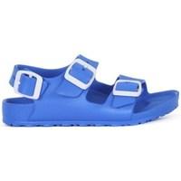 Pantofi Băieți Papuci de vară Birkenstock Milano Kids Eva Albastre