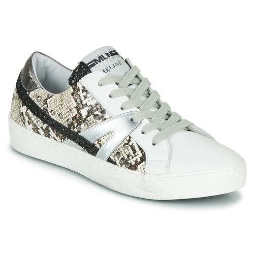 Pantofi Femei Pantofi sport Casual Meline PANNA Alb / Piton