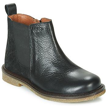 Pantofi Fete Ghete Aster WAXOU Negru