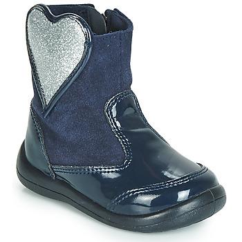 Pantofi Fete Ghete Gioseppo BUCKLAND Bleumarin / Argintiu