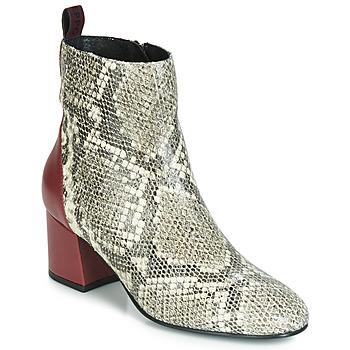 Pantofi Femei Botine Gioseppo NEUBURG Piton / Roșu-bordeaux