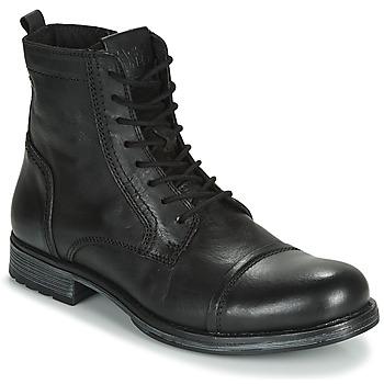 Pantofi Bărbați Ghete Jack & Jones JFW RUSSEL LEATHER Negru