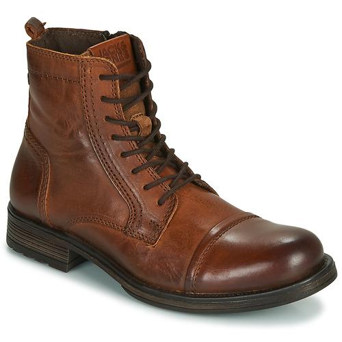 Pantofi Bărbați Ghete Jack & Jones JFW RUSSEL LEATHER Coniac