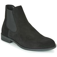 Pantofi Bărbați Ghete Selected LOUIS SUEDE CHELSEA Negru