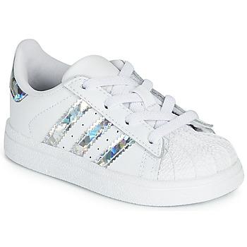 Pantofi Fete Pantofi sport Casual adidas Originals SUPERSTAR EL I Alb / Argintiu