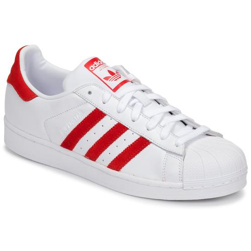 Pantofi Pantofi sport Casual adidas Originals SUPERSTAR Alb / Roșu