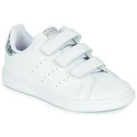 Pantofi Fete Pantofi sport Casual adidas Originals STAN SMITH CF C Alb / Argintiu