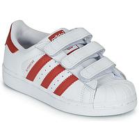 Pantofi Copii Pantofi sport Casual adidas Originals SUPERSTAR CF C Alb / Roșu