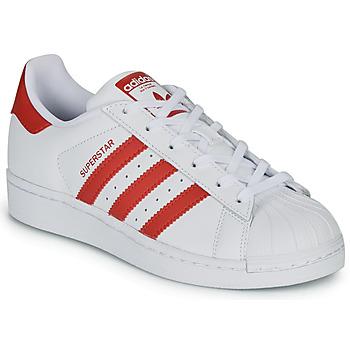 Pantofi Copii Pantofi sport Casual adidas Originals SUPERSTAR J Alb / Roșu