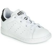 Pantofi Copii Pantofi sport Casual adidas Originals STAN SMITH EL I Alb / Negru
