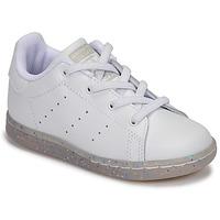 Pantofi Fete Pantofi sport Casual adidas Originals STAN SMITH EL I Alb / Glitter
