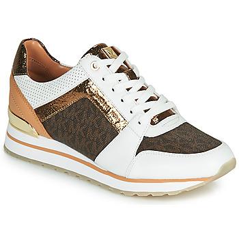 Pantofi Femei Pantofi sport Casual MICHAEL Michael Kors BILLIE TRAINER Alb / Maro