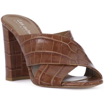 Pantofi Femei Papuci de vară Priv Lab CUOIO KAIMAN Marrone