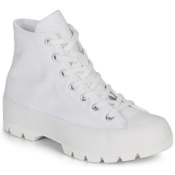 Pantofi Femei Pantofi sport stil gheata Converse CHUCK TAYLOR ALL STAR LUGGED BASIC CANVAS Alb