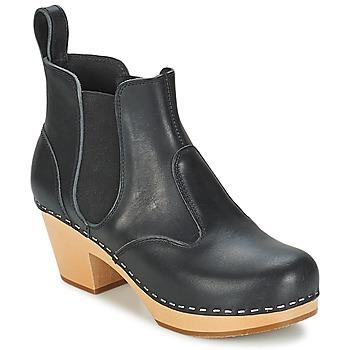 Pantofi Femei Botine Swedish hasbeens CHELSEA Negru