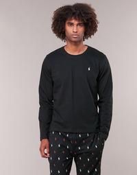 Îmbracaminte Bărbați Tricouri cu mânecă lungă  Polo Ralph Lauren L/S CREW-CREW-SLEEP TOP Negru