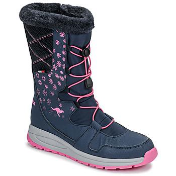 Pantofi Femei Cizme de zapadă Kangaroos K-GLAZE RTX Bleumarin / Roz