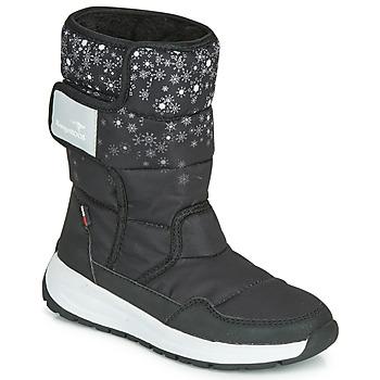 Pantofi Fete Cizme de zapadă Kangaroos K-FLUFF RTX Negru / Gri