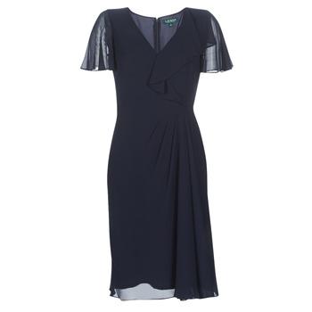 Îmbracaminte Femei Rochii lungi Lauren Ralph Lauren CUTLER CAP SLEEVE DAY DRESS Bleumarin