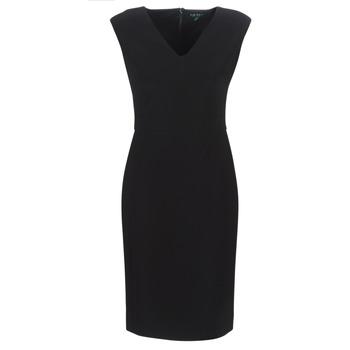 Îmbracaminte Femei Rochii lungi Lauren Ralph Lauren BLACK CAP SLEEVE DAY DRESS Negru