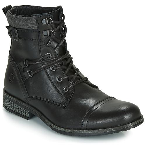 Pantofi Bărbați Ghete Casual Attitude RIVIGH Negru