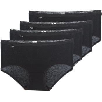 Lenjerie intimă Femei Chiloți Sloggi BASIC+ X 4 Negru