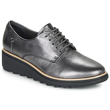 Pantofi Femei Pantofi Derby Clarks SHARON NOEL Argintiu