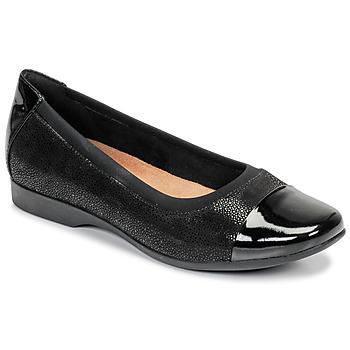 Pantofi Femei Balerin și Balerini cu curea Clarks UN DARCEY CAP Negru