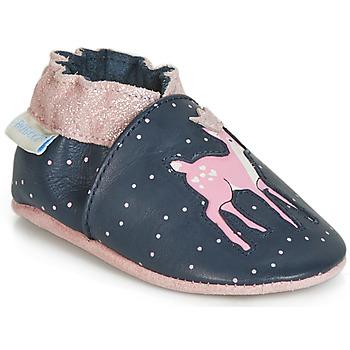 Pantofi Fete Botoșei bebelusi Robeez LITTLE FAWN Bleumarin / Roz