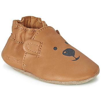Pantofi Copii Botoșei bebelusi Robeez SWEETY BEAR Camel