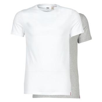 Îmbracaminte Bărbați Tricouri mânecă scurtă Levi's SLIM 2PK CREWNECK 1 Alb / Gri