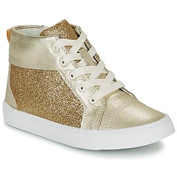 Pantofi Fete Pantofi sport stil gheata Clarks CITY OASISHI K Auriu