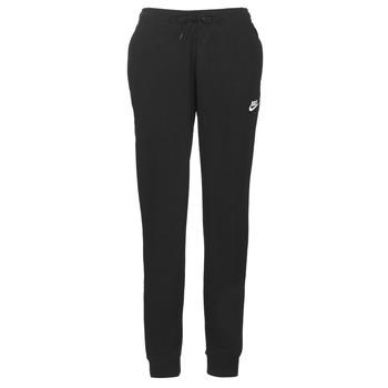 Îmbracaminte Femei Pantaloni de trening Nike W NSW ESSNTL PANT REG FLC Negru
