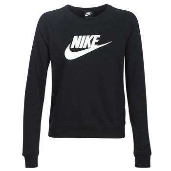 Îmbracaminte Femei Hanorace  Nike W NSW ESSNTL CREW FLC HBR Negru
