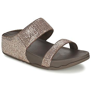 Pantofi Femei Papuci de vară FitFlop LULU™ SUPERGLITZ SLIDE Maro