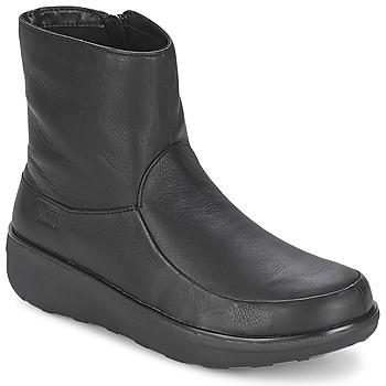 Pantofi Femei Botine FitFlop LOAFF SHORTY ZIP BOOT Negru